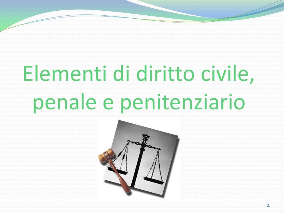 Elementi di diritto civile, penale e penitenziario
