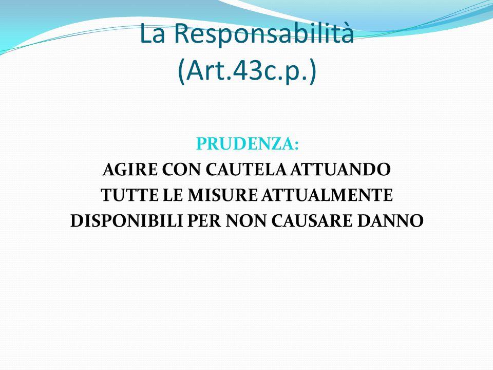 La Responsabilità (Art.43c.p.)