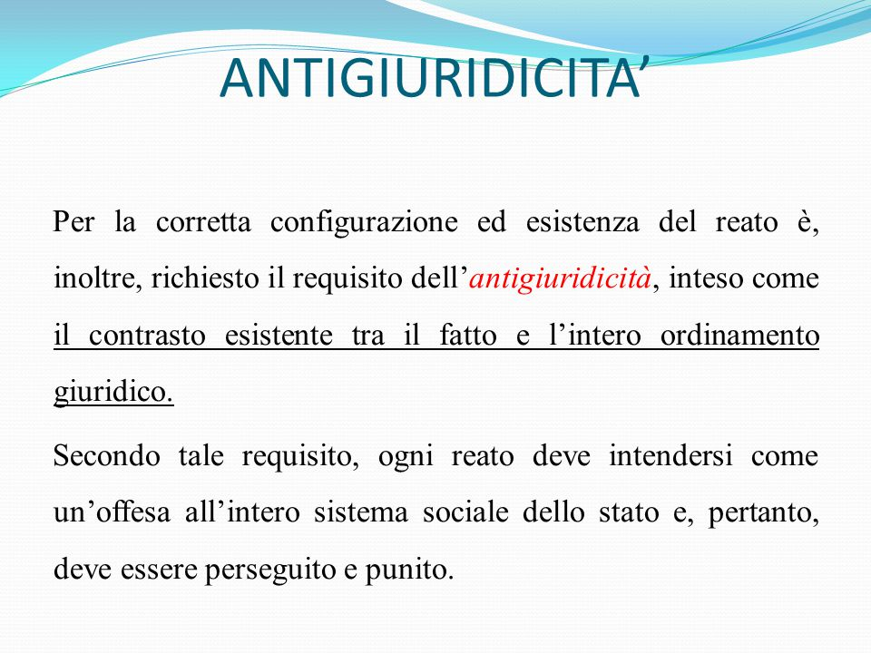 ANTIGIURIDICITA'