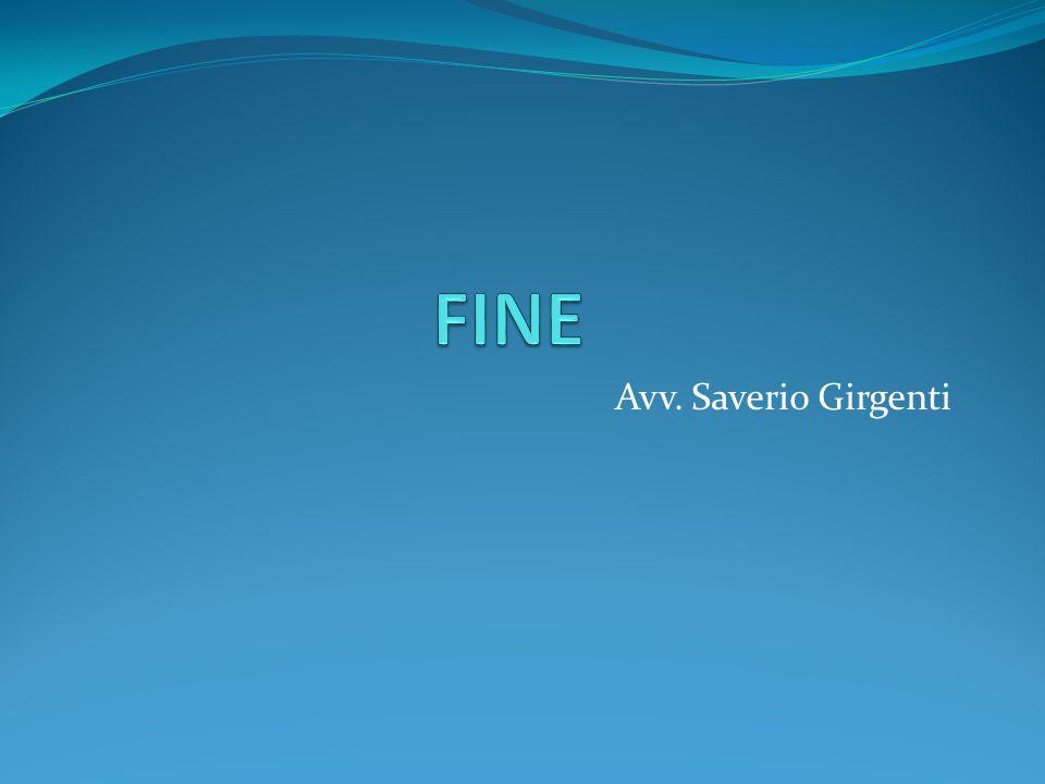 FINE Avv. Saverio Girgenti