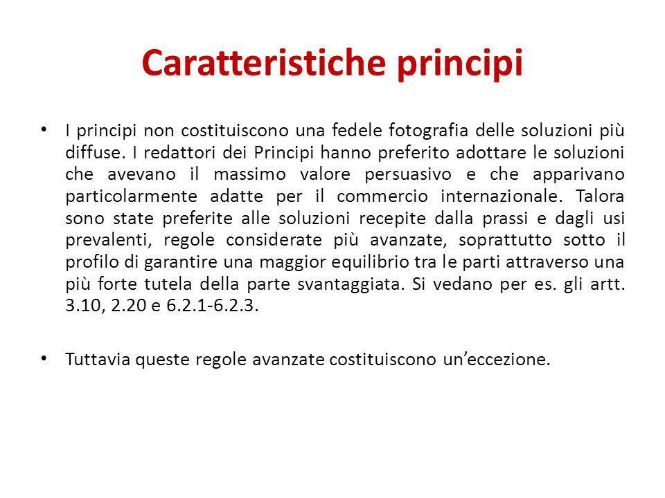 Caratteristiche principi