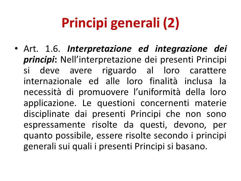 Principi generali (2)