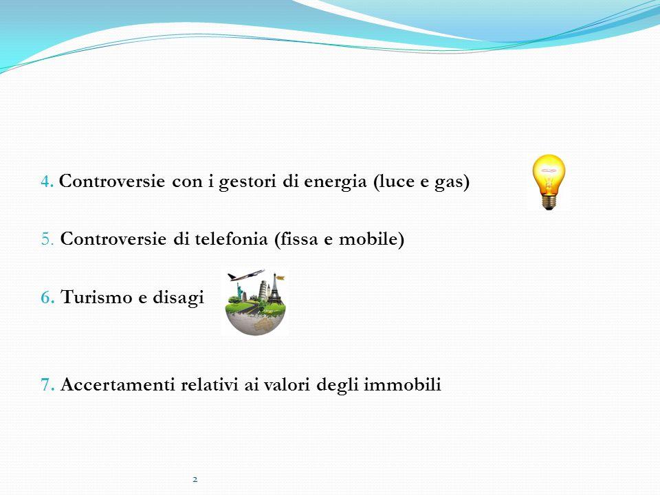 5. Controversie di telefonia (fissa e mobile) 6. Turismo e disagi