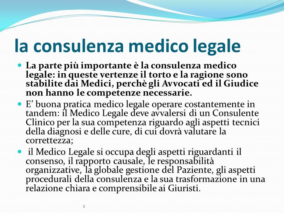 la consulenza medico legale