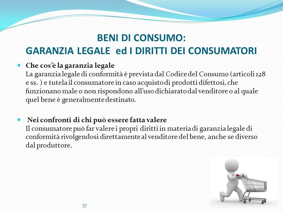 BENI DI CONSUMO: GARANZIA LEGALE ed I DIRITTI DEI CONSUMATORI