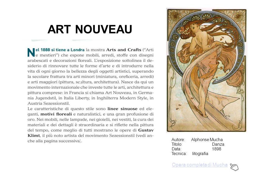 ART NOUVEAU Opera completa di Mucha Autore: Alphonse Mucha