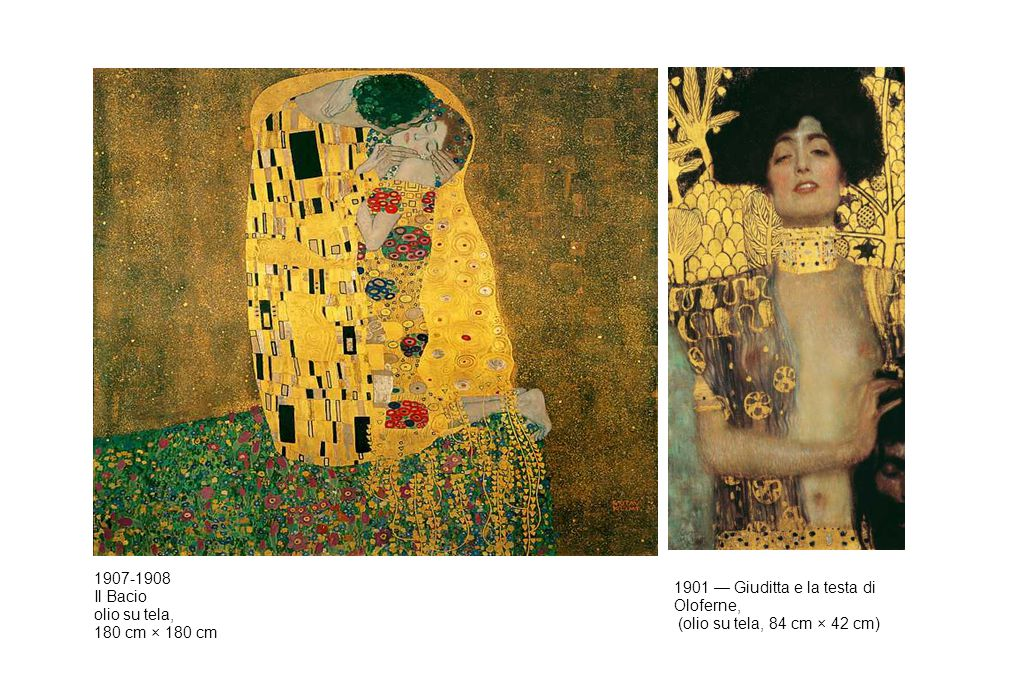 1907-1908 Il Bacio. olio su tela, 180 cm × 180 cm.