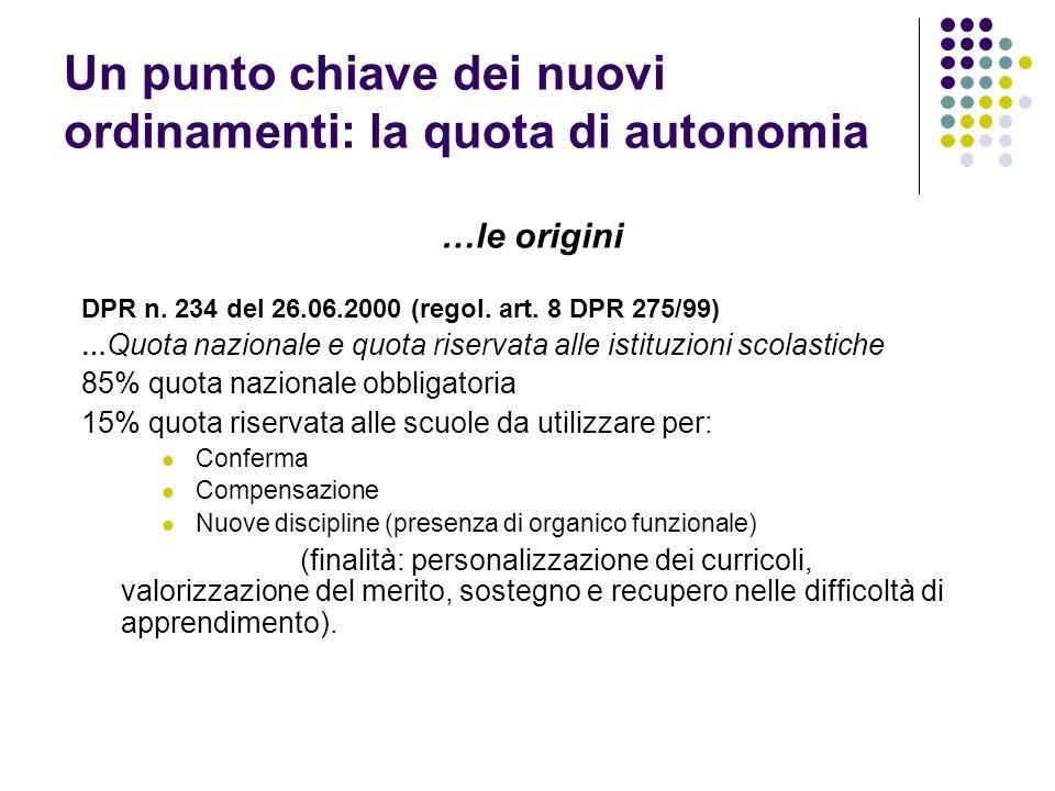 Un punto chiave dei nuovi ordinamenti: la quota di autonomia