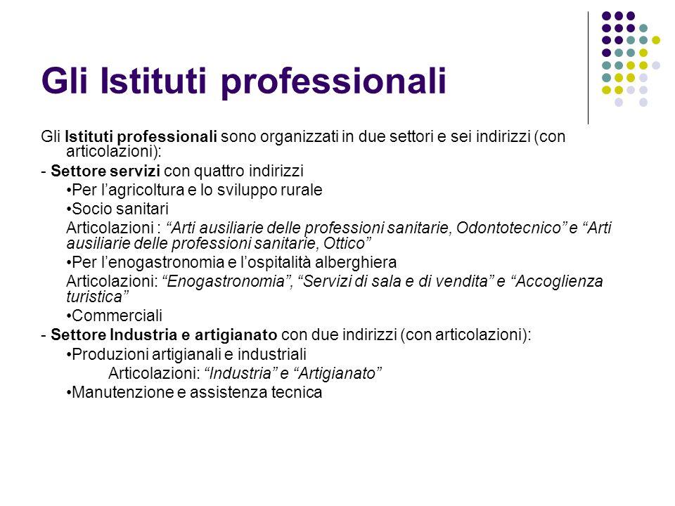 Gli Istituti professionali