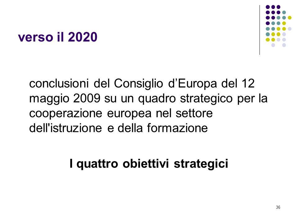 I quattro obiettivi strategici