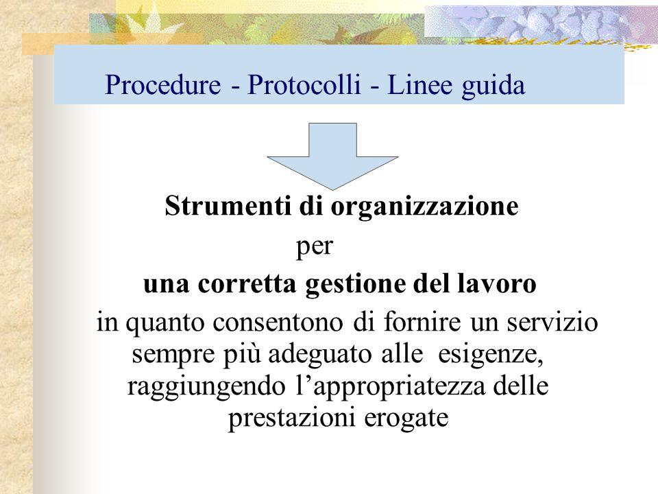 Procedure - Protocolli - Linee guida