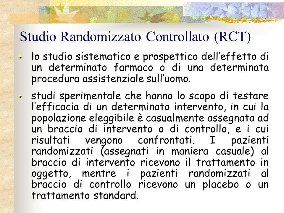 Studio Randomizzato Controllato (RCT)