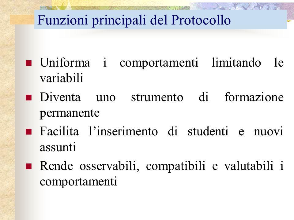 Funzioni principali del Protocollo