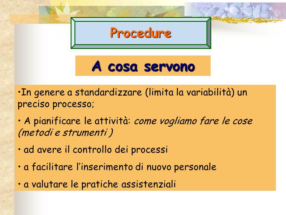 A cosa servono Procedure