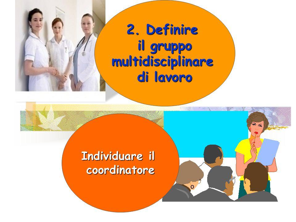 2. Definire il gruppo multidisciplinare di lavoro