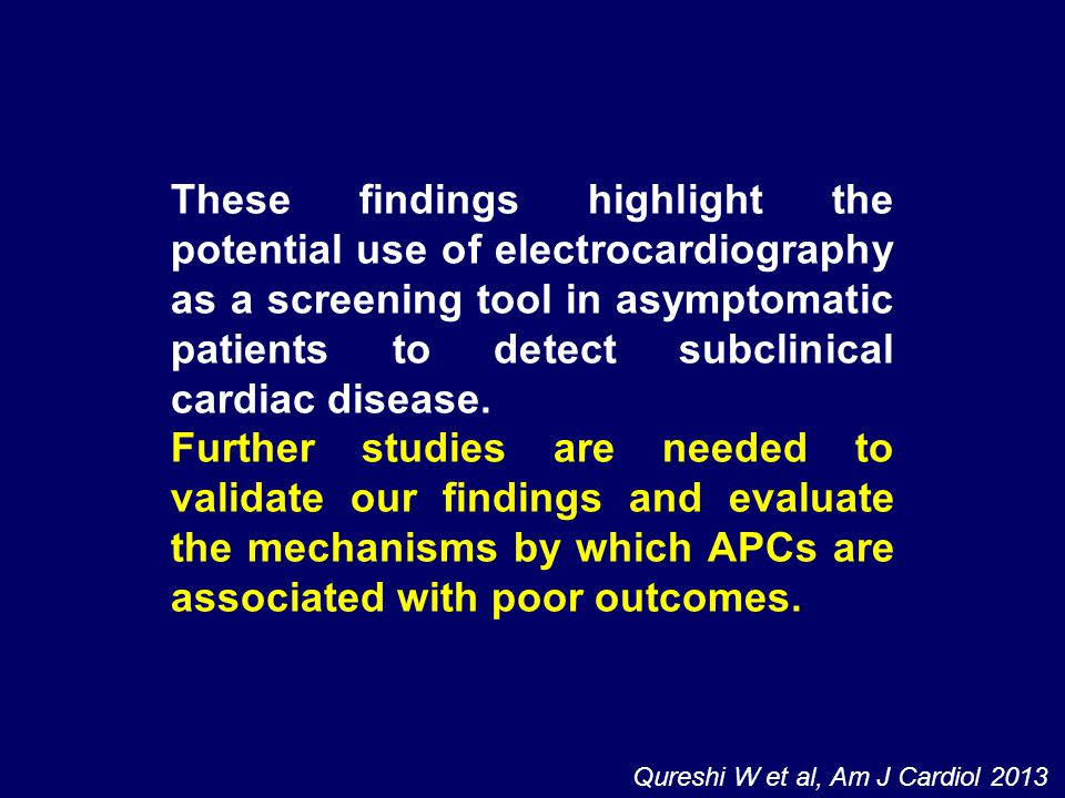 These findings highlight the potential use of electrocardiography as a screening tool in asymptomatic patients to detect subclinical cardiac disease.