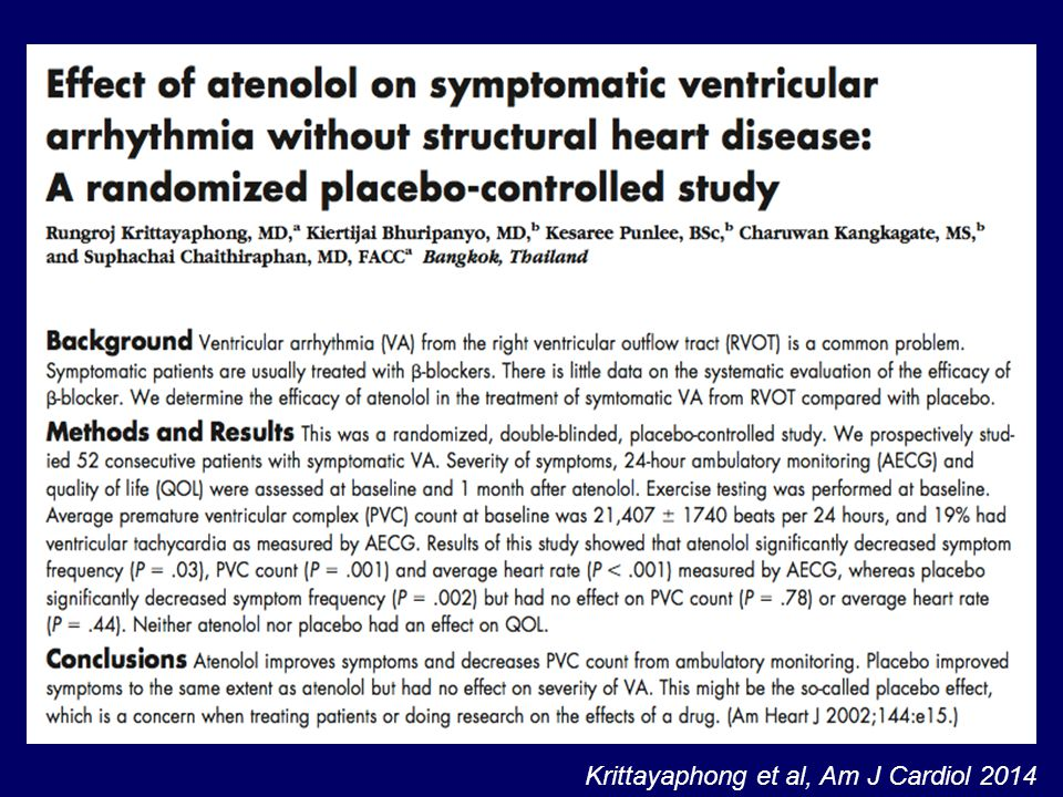 Krittayaphong et al, Am J Cardiol 2014