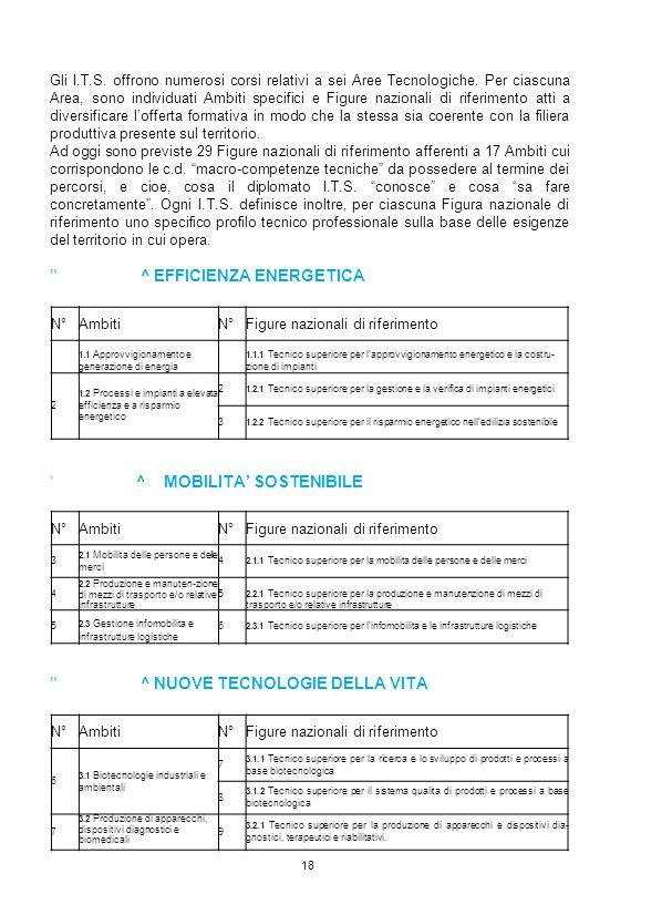 AREA n. 1^ EFFICIENZA ENERGETICA