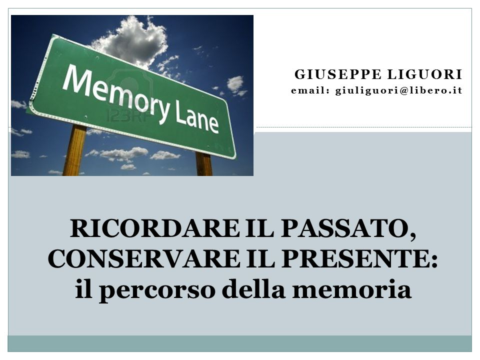 Giuseppe Liguori email: giuliguori@libero.it.