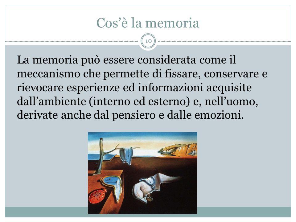 Cos'è la memoria