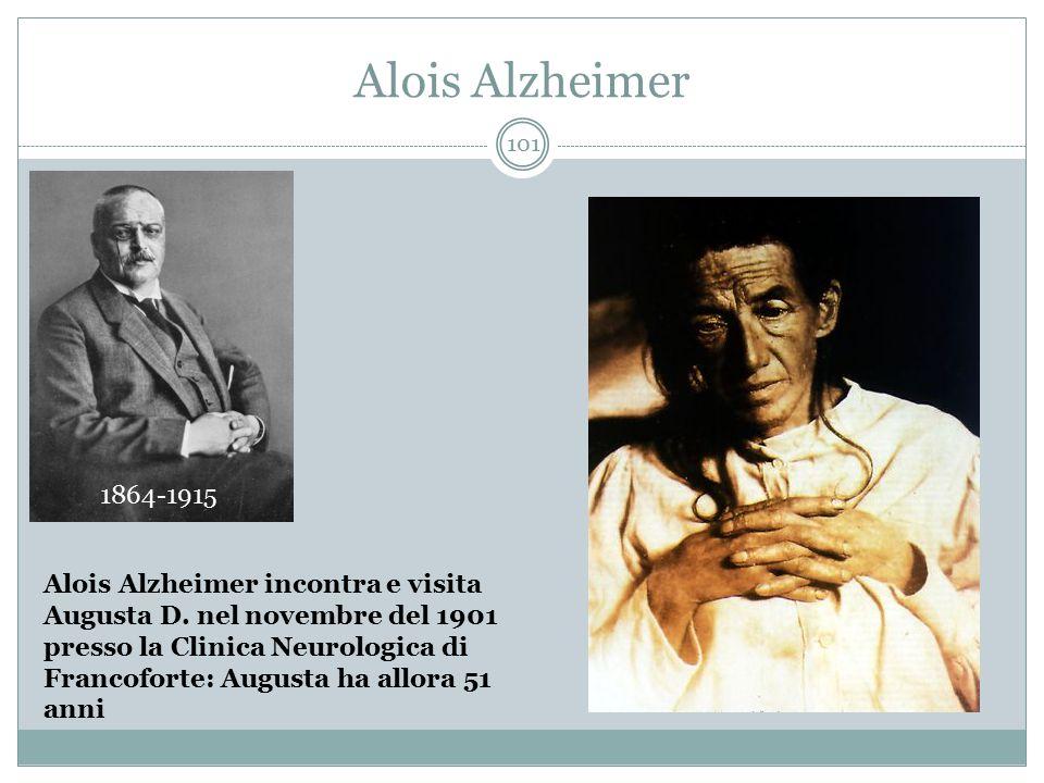 Alois Alzheimer 1864-1915 Alois Alzheimer incontra e visita