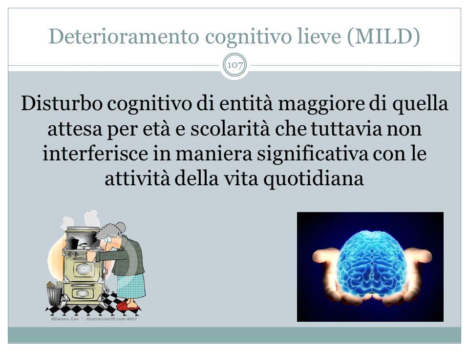 Deterioramento cognitivo lieve (MILD)