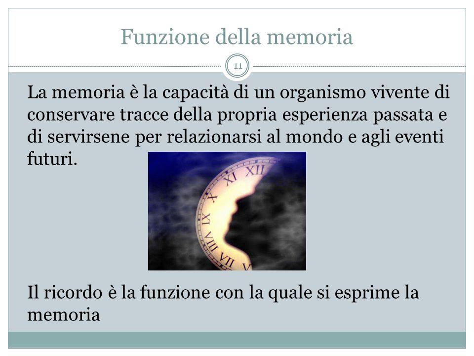 Funzione della memoria