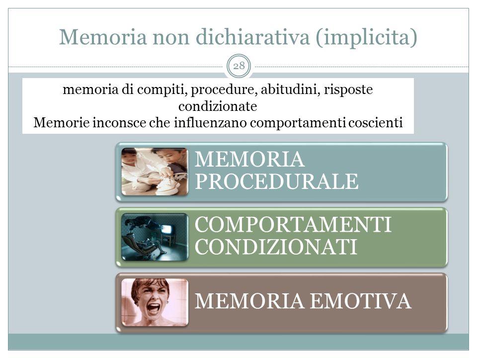 Memoria non dichiarativa (implicita)