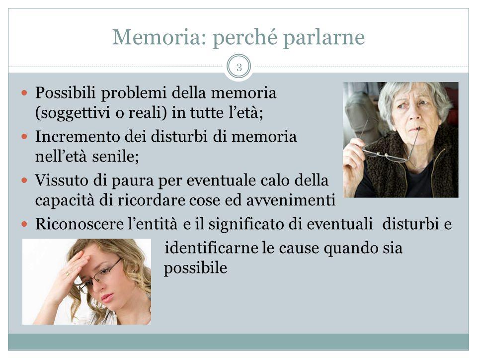 Memoria: perché parlarne