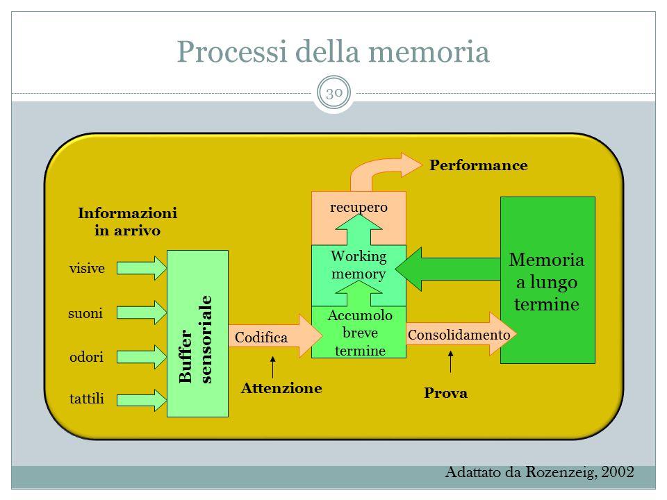 Processi della memoria
