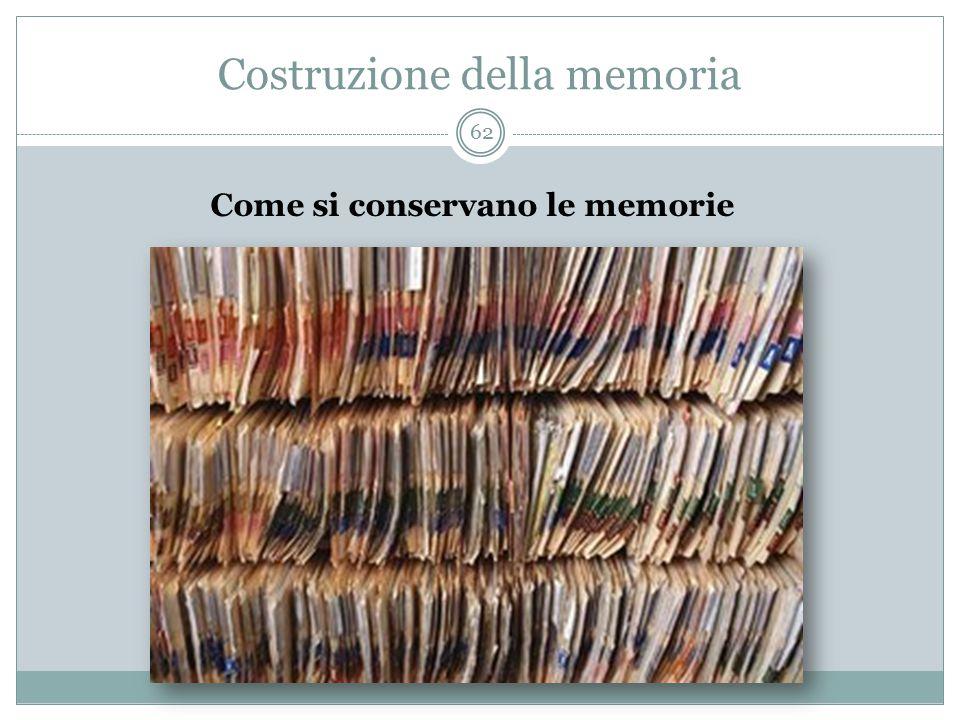 Costruzione della memoria