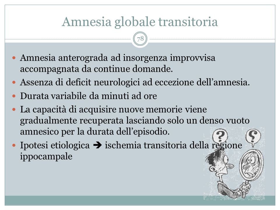 Amnesia globale transitoria