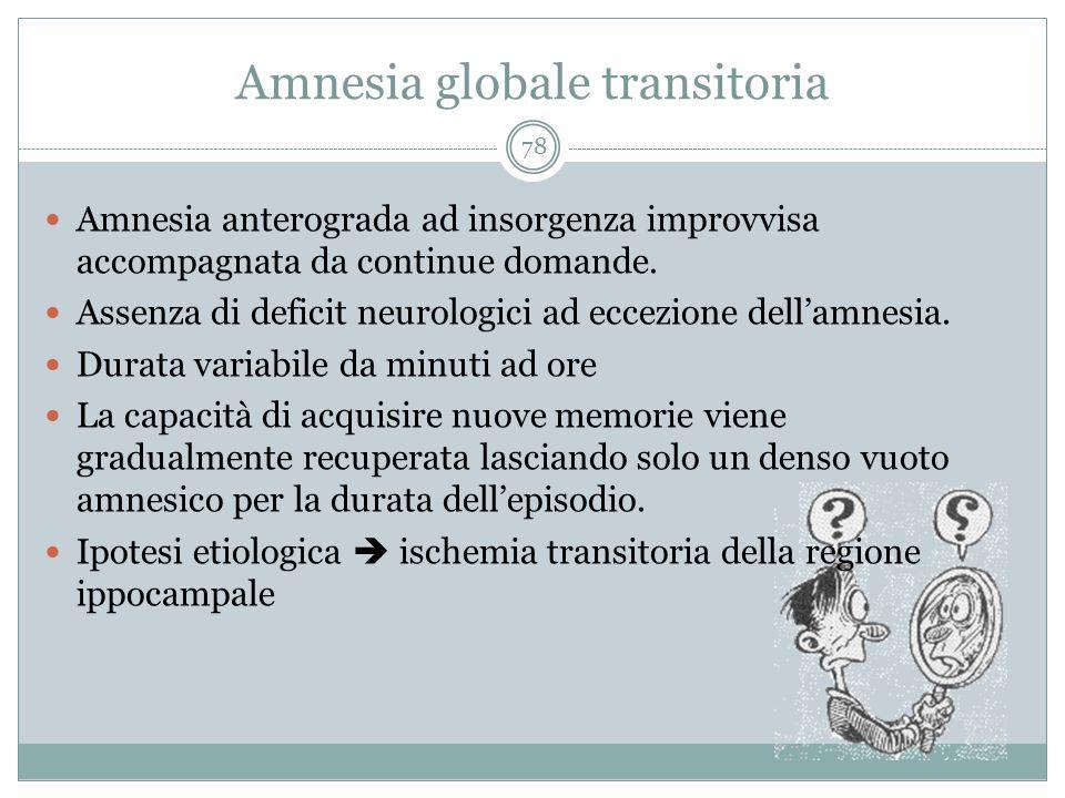 Amnesia globale transitoria
