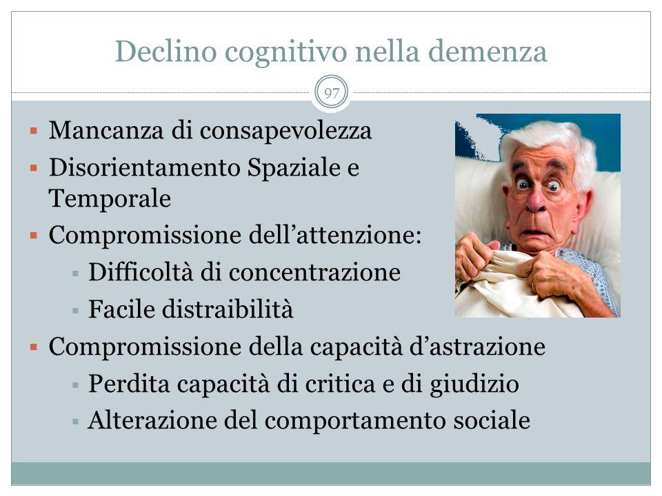 Declino cognitivo nella demenza