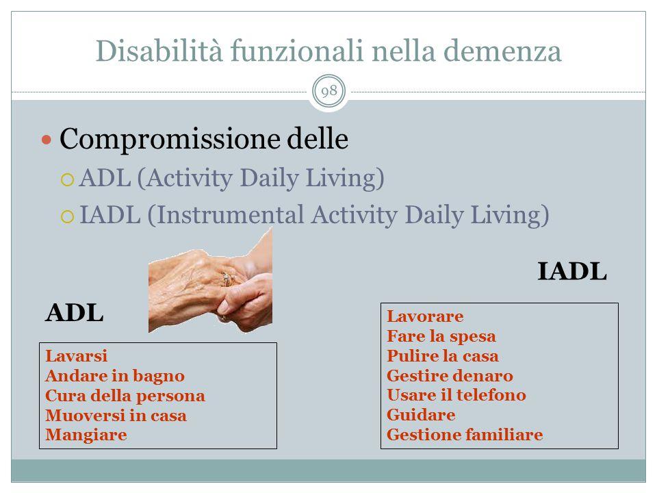 Disabilità funzionali nella demenza