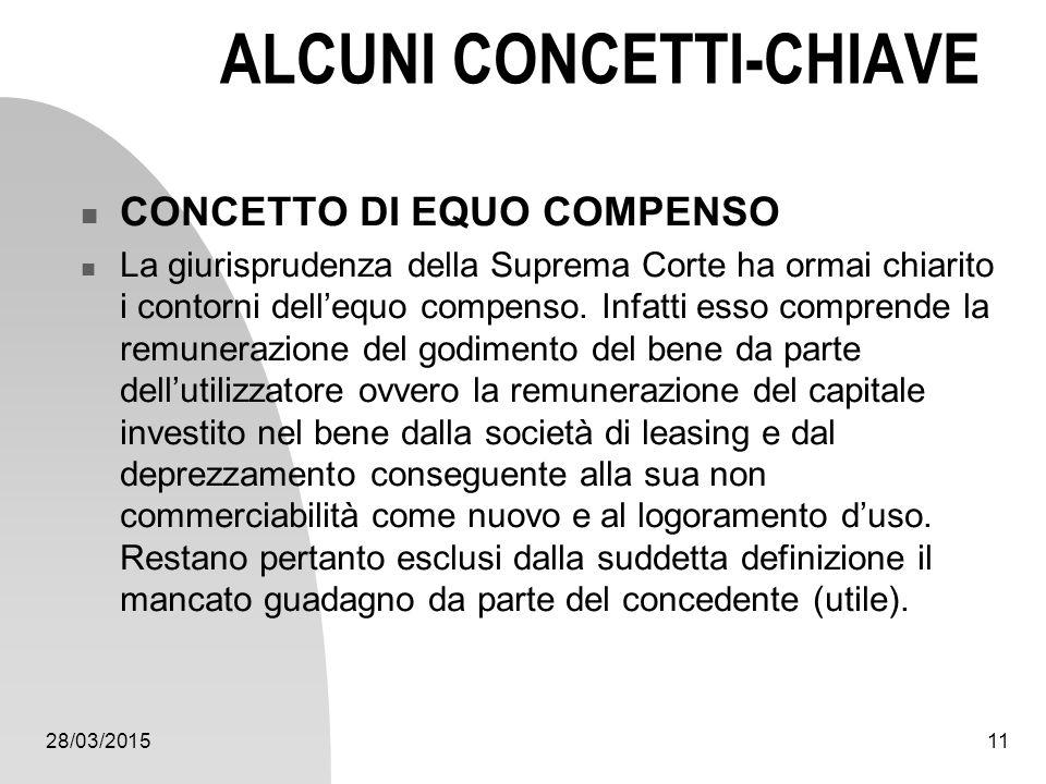 ALCUNI CONCETTI-CHIAVE