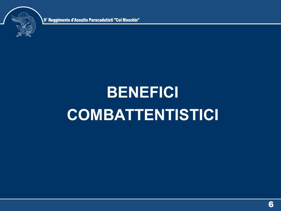 BENEFICI COMBATTENTISTICI