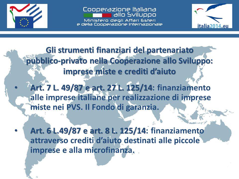 Gli strumenti finanziari del partenariato pubblico-privato nella Cooperazione allo Sviluppo: imprese miste e crediti d'aiuto