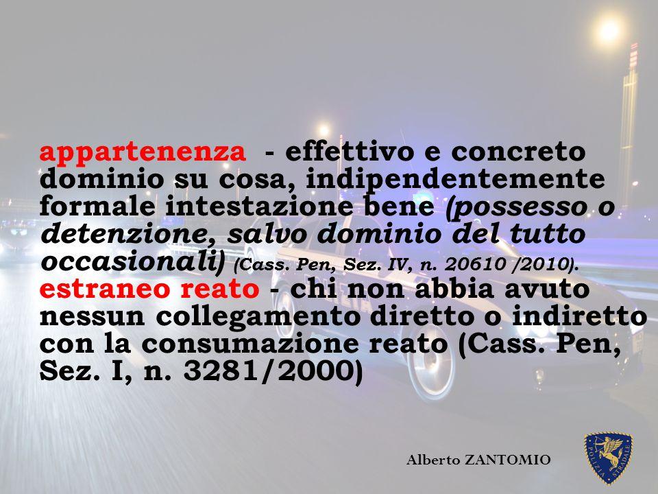 Non è estraneo: - comproprietario veicolo (Cass. Pen. Sez. IV, n