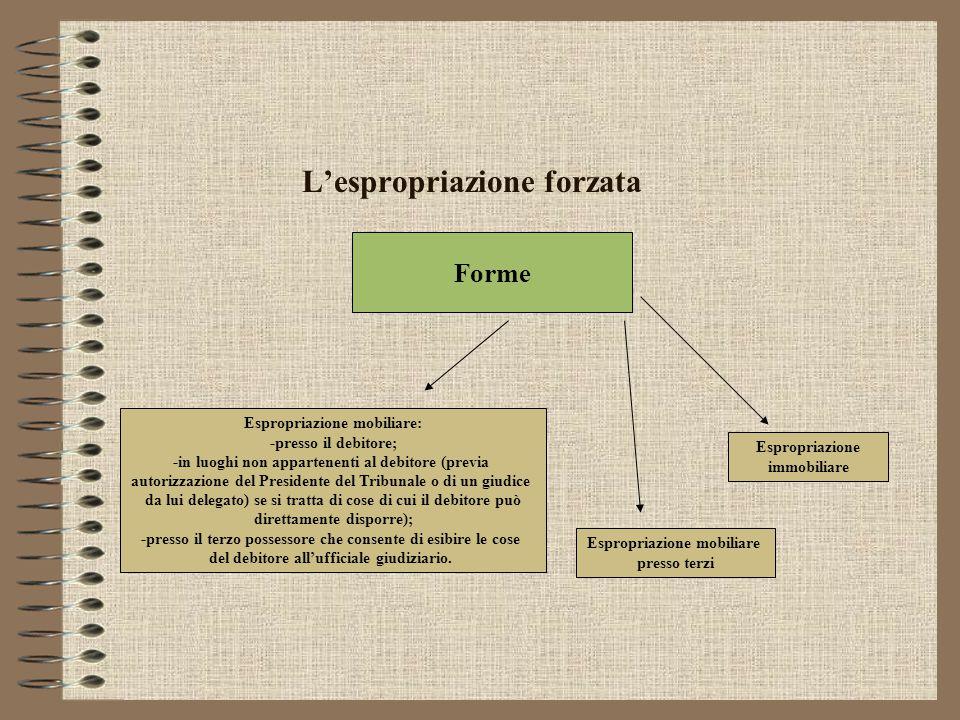 L'espropriazione forzata