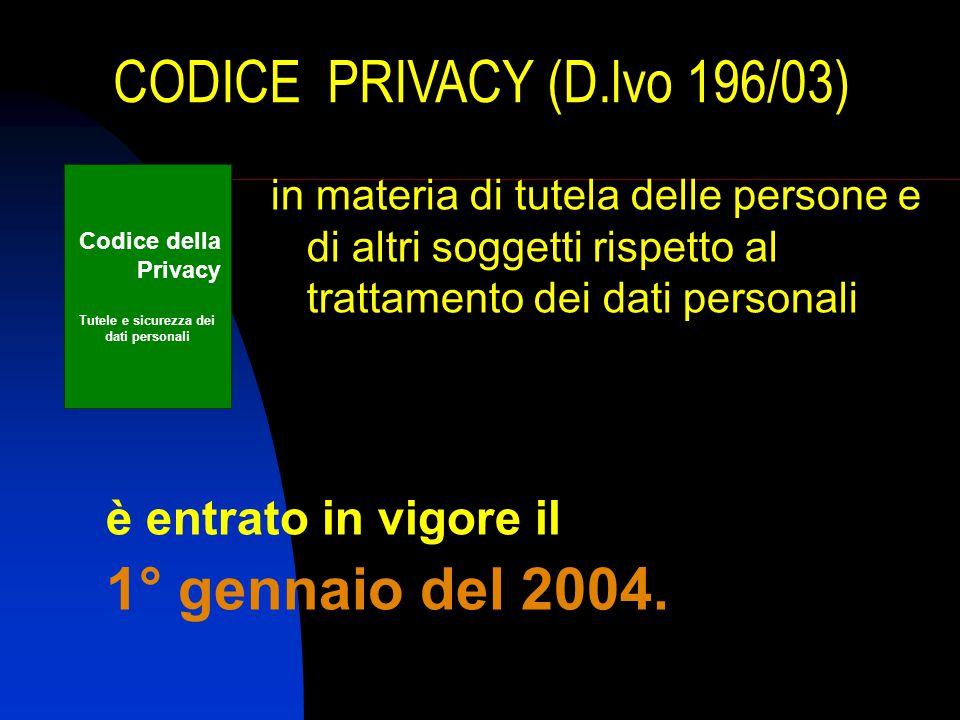Tutele e sicurezza dei dati personali