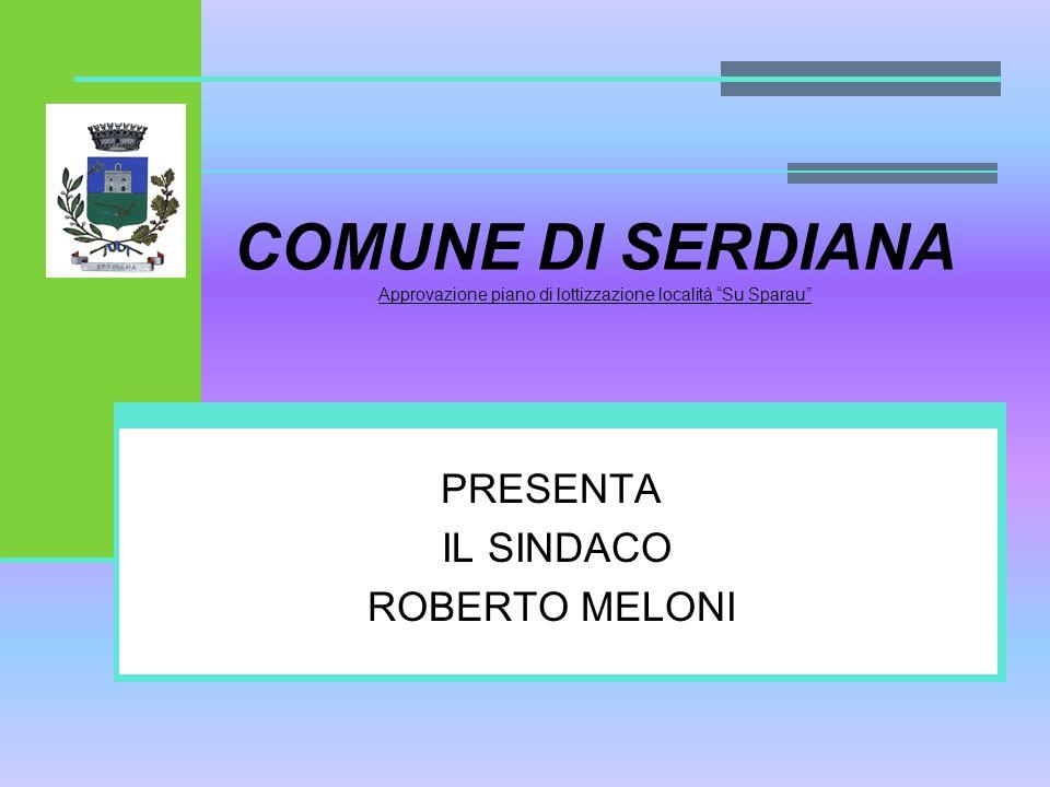 PRESENTA IL SINDACO ROBERTO MELONI