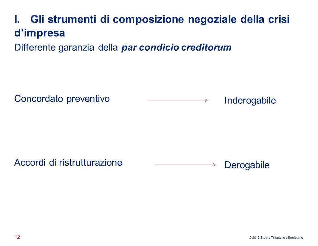 I. Gli strumenti di composizione negoziale della crisi d'impresa