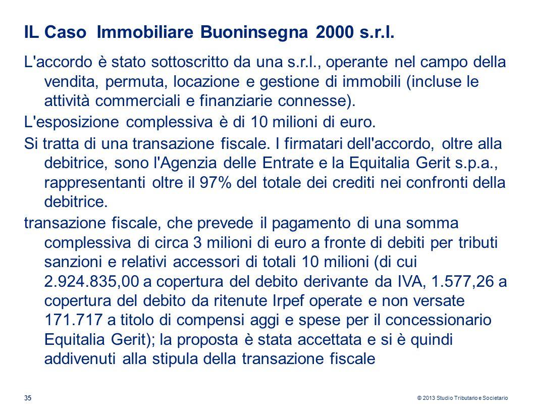 IL Caso Immobiliare Buoninsegna 2000 s.r.l.