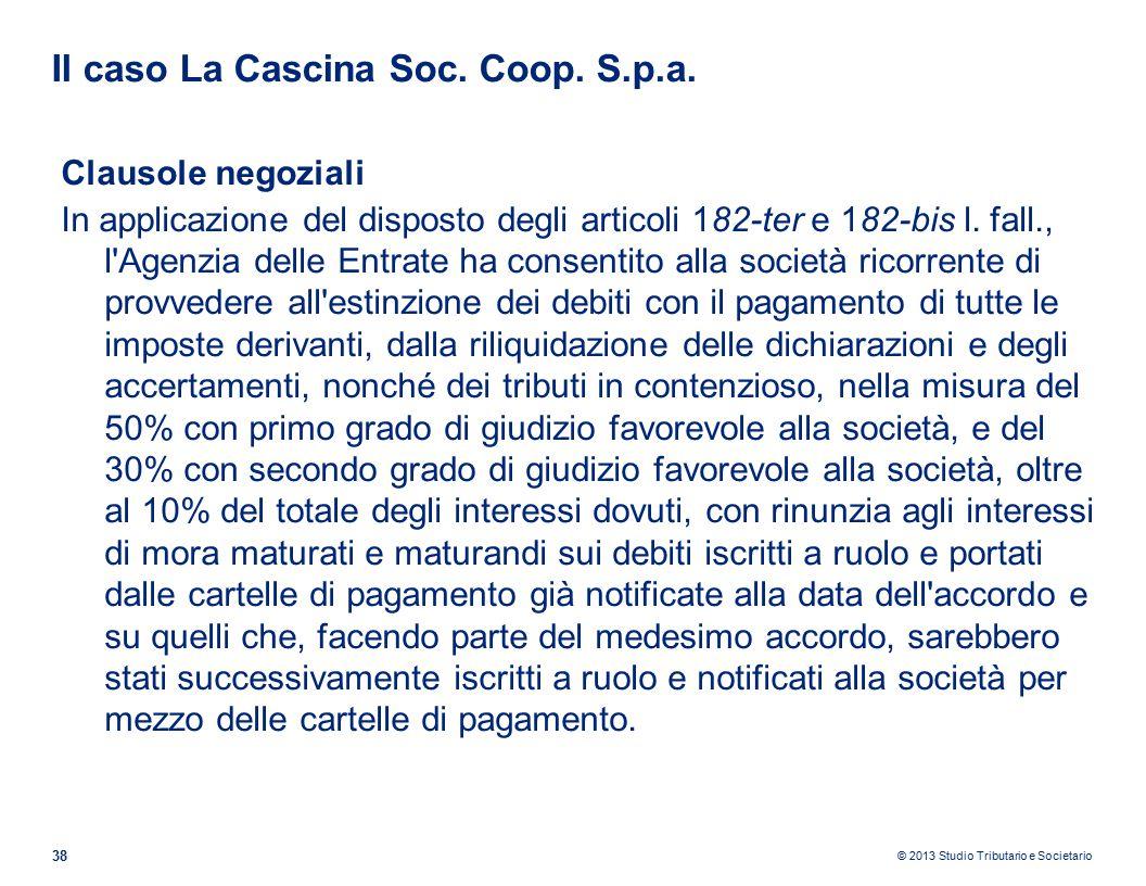 Il caso La Cascina Soc. Coop. S.p.a.