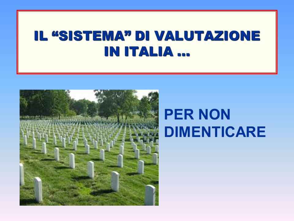 IL SISTEMA DI VALUTAZIONE IN ITALIA …