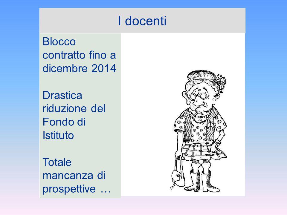I docenti Blocco contratto fino a dicembre 2014