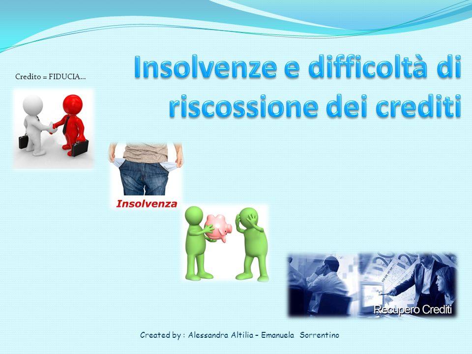 Insolvenze e difficoltà di riscossione dei crediti