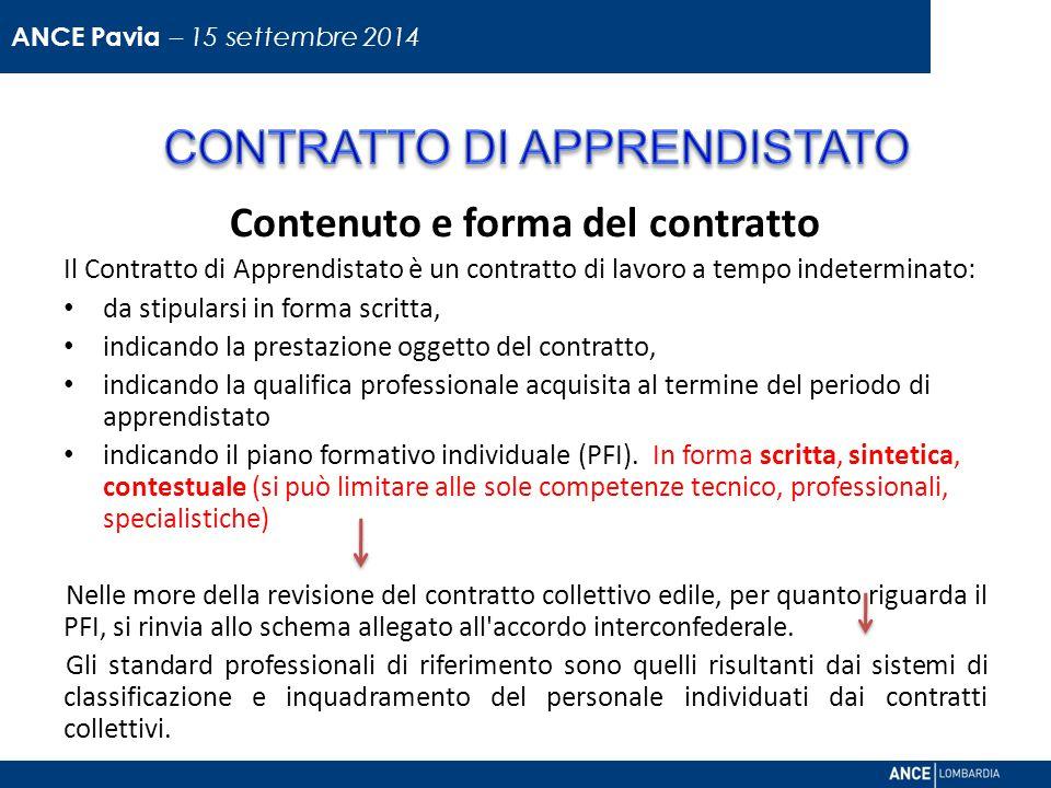 Contenuto e forma del contratto