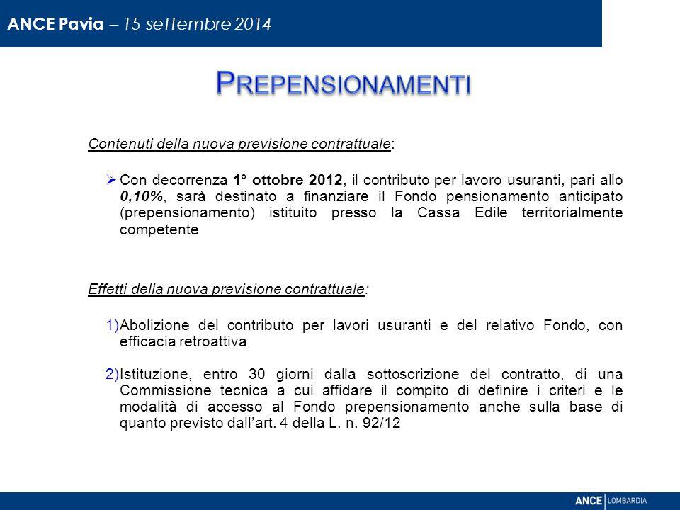 Prepensionamenti ANCE Pavia – 15 settembre 2014